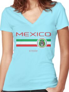 Copa America 2016 - Mexico (Home Green) Women's Fitted V-Neck T-Shirt