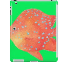 Tropical Fish painting on lime background iPad Case/Skin