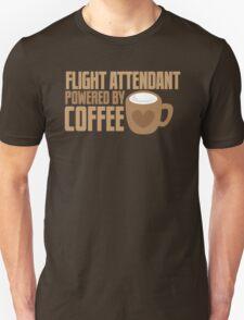 flight attendant powered by coffee T-Shirt