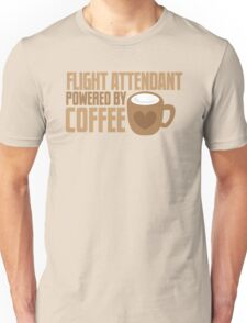 flight attendant powered by coffee Unisex T-Shirt