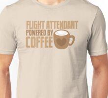 flight attendant powered by coffee Unisex T-Shirt