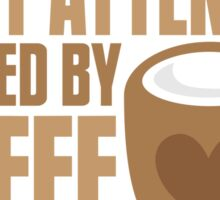 flight attendant powered by coffee Sticker