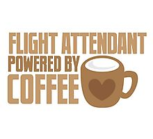 flight attendant powered by coffee Photographic Print