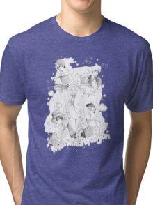 Kira Kira Apollyon Black X White Tri-blend T-Shirt