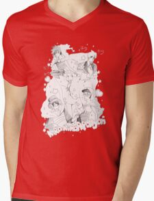 Kira Kira Apollyon Black X White Mens V-Neck T-Shirt