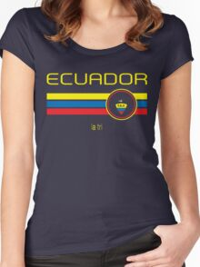 Copa America 2016 - Ecuador (Away Blue) Women's Fitted Scoop T-Shirt