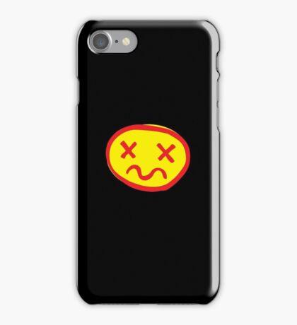 crazy unhappy iPhone Case/Skin
