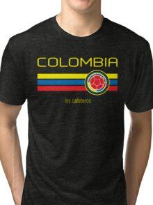 Copa America 2016 - Colombia (Away Dark Blue) Tri-blend T-Shirt