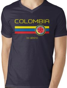 Copa America 2016 - Colombia (Away Dark Blue) Mens V-Neck T-Shirt