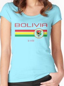 Copa America 2016 - Bolivia (Home Green) Women's Fitted Scoop T-Shirt