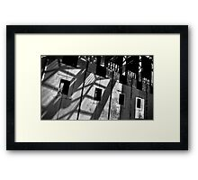 Abstract shot of the front of Australia's Parliament House. Framed Print