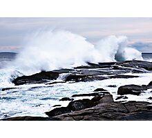 Ferocious Ocean -- Peggy's Cove, Nova Scotia Photographic Print