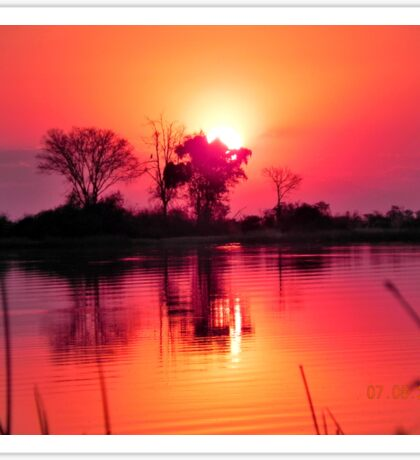 Botswana Sunset Sticker