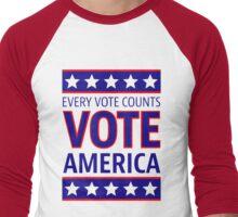 VOTE AMERICA Men's Baseball ¾ T-Shirt