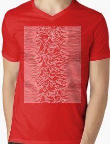 Division Waves Parody Mens V-Neck T-Shirt