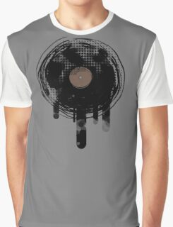 Cool Melting Vinyl Records Vintage Music T-Shirt Graphic T-Shirt