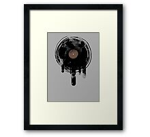 Cool Melting Vinyl Records Retro Music DJ! Framed Print