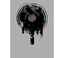 Cool Melting Vinyl Records Vintage Music T-Shirt Photographic Print