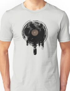 Cool Melting Vinyl Records Retro Music DJ! T-Shirt