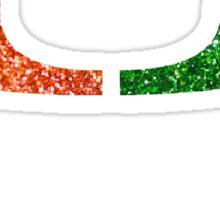 university of miami logo glitter Sticker