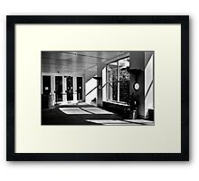 Back and White internal Building Image Framed Print