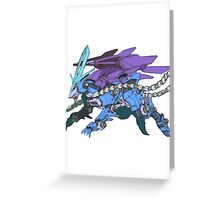 Pokezoids Suicune Greeting Card