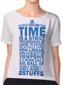 Doctor Who Time Quotes Chiffon Top