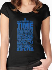 Doctor Who Time Quotes Women's Fitted Scoop T-Shirt