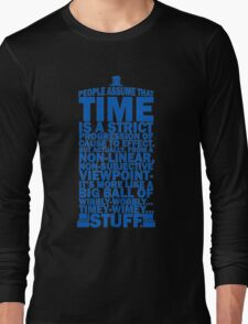 Doctor Who Time Quotes Long Sleeve T-Shirt