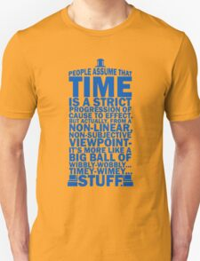 Doctor Who Time Quotes Unisex T-Shirt