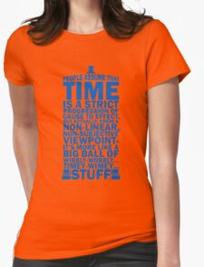 Doctor Who Time Quotes Womens Fitted T-Shirt