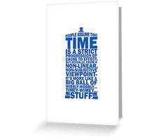 Doctor Who Time Quotes Greeting Card