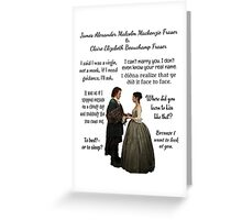 Outlander Wedding Quotes Greeting Card