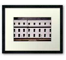 White Building Framed Print