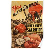 They Knew Sacrifice Poster