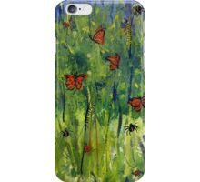 In the Garden Watercolour Painting iPhone Case/Skin