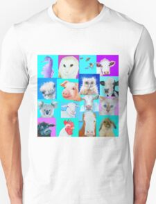 Animal paintings collage for nursery wall T-Shirt