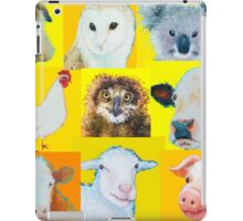 Animal painting collage for nursery wall iPad Case/Skin