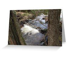 Beaver Dam Waterfall in Bridgton Maine #3 Greeting Card