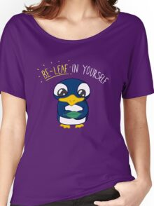 Believe In Yourself Motivational Penguin Women's Relaxed Fit T-Shirt