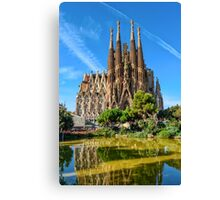 Sagrada Familia basilica in Barcelona Canvas Print