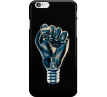 Protest fist light bulb iPhone Case/Skin