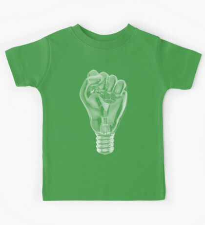 Protest fist light bulb Kids Tee