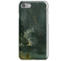 James Abbott McNeill Whistler, Nocturne in Black and Gold – The Falling Rocket,  iPhone Case/Skin