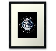 The Earth set amid innumerable stars Framed Print