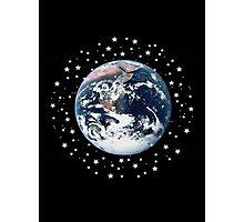 The Earth set amid innumerable stars Photographic Print