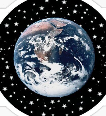 The Earth set amid innumerable stars Sticker