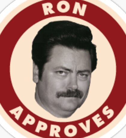 Ron Swanson Approved  Sticker