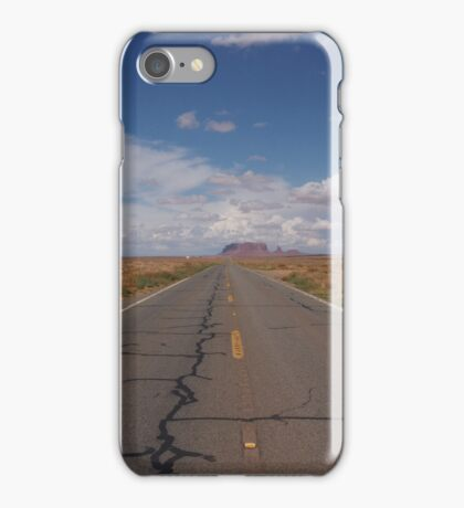 Road near Monument Valley iPhone Case/Skin