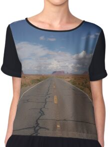 Road near Monument Valley Chiffon Top